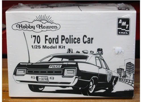 AMT Hobby Heaven 1970 Ford Police Car Kit Sealed