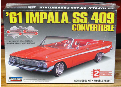 Lindberg 1961 Impala SS 409 Convertible Kit Sealed