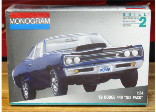 "Monogram 1969 Dodge 400 ""Six Pack"" Kit 1991 Issue Sealed"