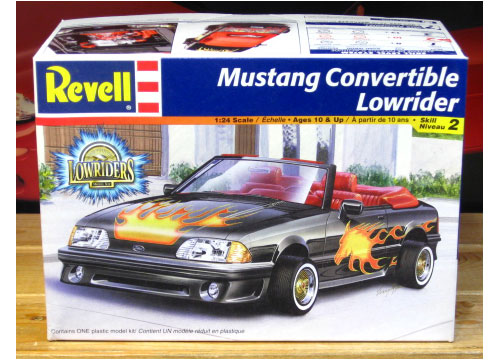Revell Mustang Convertible Lowrider Kit Complete