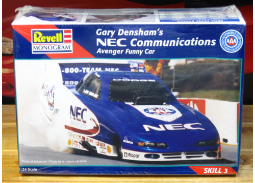 Revell NEC Communications Dodge Avenger Funny Car Kit Sealed