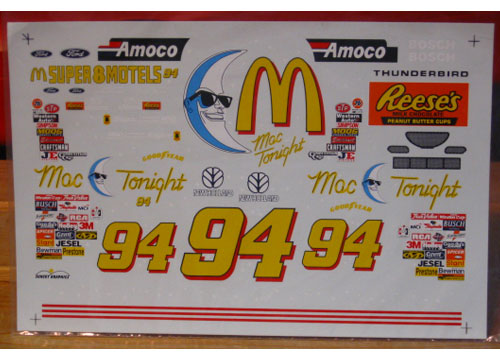 #94 Mac Tonight Bill Elliott 1997 Sunset