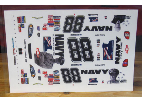 #88 Navy Salute The Troops Brad Keselowski 2008 MPR