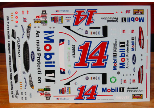 #14 Mobil 1 Annual Protection Clint Bowyer 2017 Ford Fusion Powerslide #278