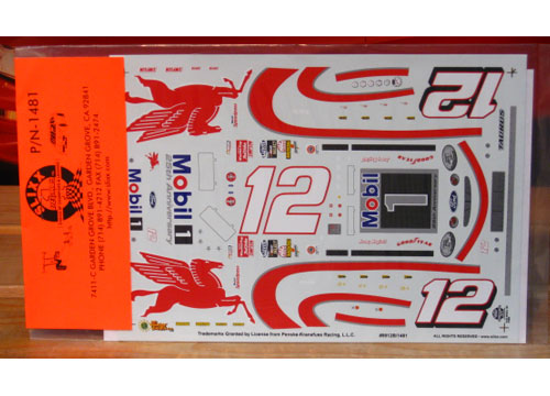 #12 Mobil 1 25th Anniversary Jeremy Mayfield 1999 Slixx