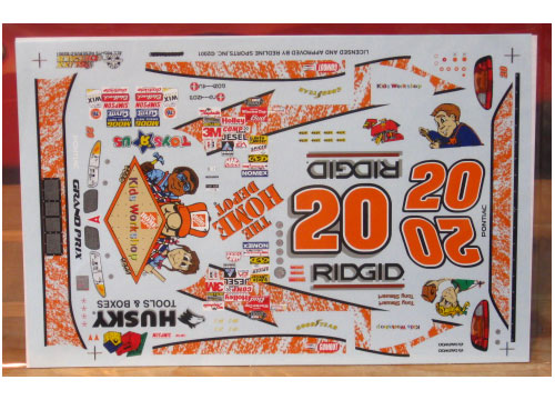 #20 Kids Workshop Tony Stewart 1999 Slixx