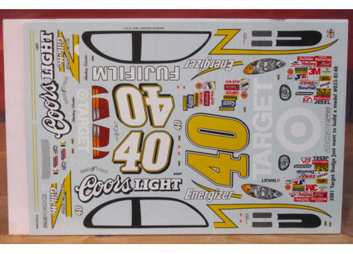 #40 Coors Light Target Sterling Marlin 2001 JWTBM