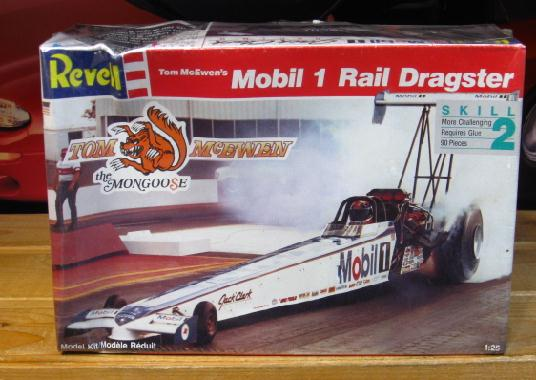 Revell Tom McEwen Mobil 1 Top Fuel Kit Sealed