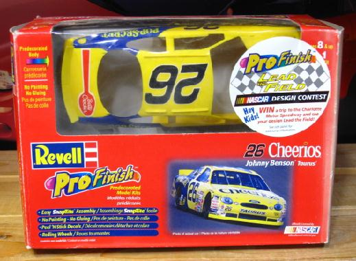Pro Finish #26 Cheerios Johnny Benson 1998 Taurus Kit