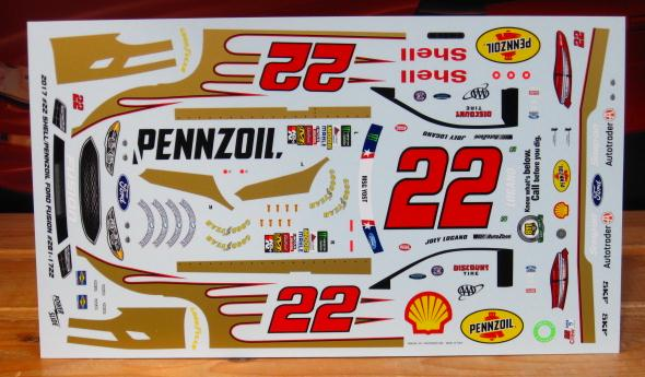 #22 Shell Pennzoil Joey Logano '17 Coca Cola 600 Powerslide #281