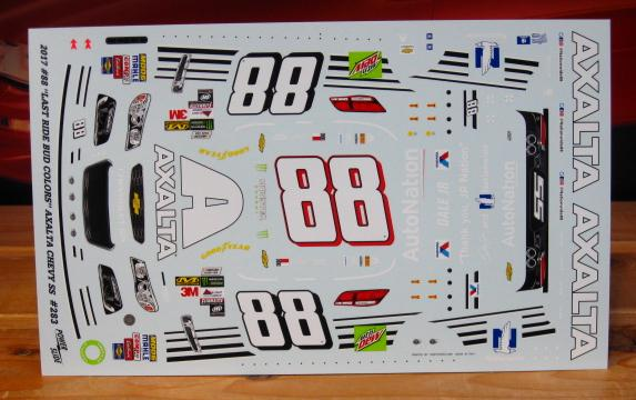 "#88 Bud Colors ""Last Ride"" Dale Earnhardt Jr 2017 Powerslide #283"