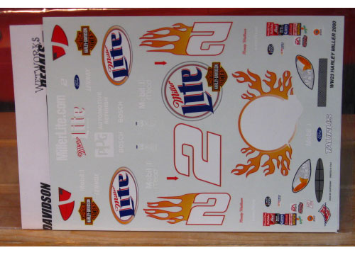 # 2 Miller Harley Davidson Rusty Wallace 2000 Wetworks