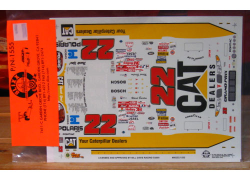 #22 Cat Dealers Ward Burton 2000 Slixx