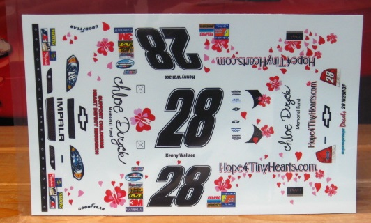#28 Hope for Tiny Hearts Kenny Wallace 2010 MPR