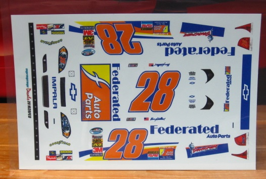 #28 Federated Auto Parts Kenny Wallace 2010 MPR