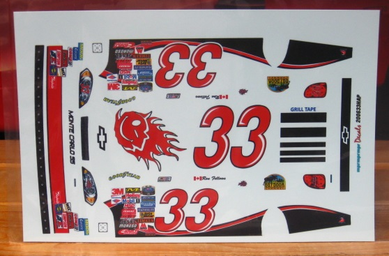 #33 Happy Harvick Monte Carlo Ron Fellows 2006 MPR