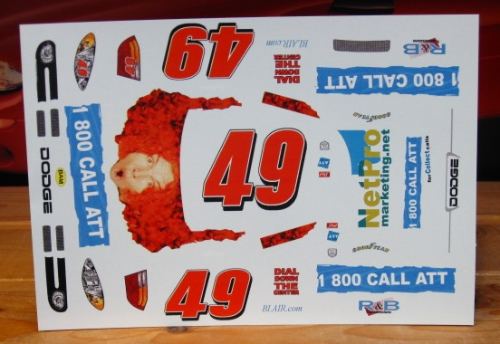 #49 Carrot Top AT&T Ken Schrader Dodge ALPS