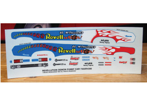 Revellution Demon Funny Car Decals
