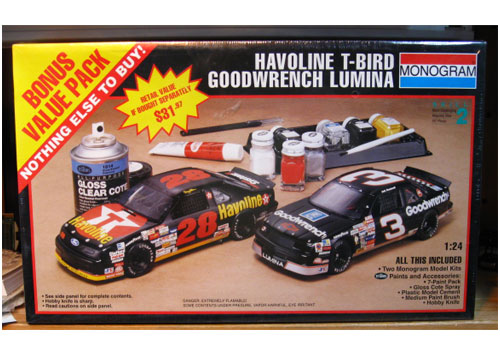 Monogram #28 Havoline #3 Goodwrench Combo Sealed
