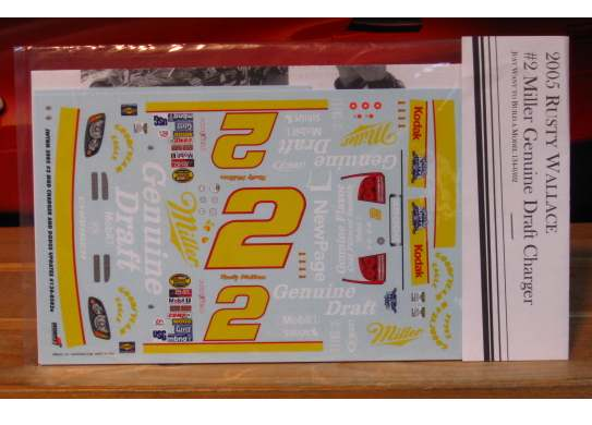 # 2 Miller Genuine Draft Rusty Wallace 2005 JWTBM