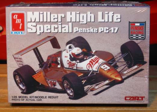 AMT Miller High Life Penske PC-17 Indy Car Kit Sealed