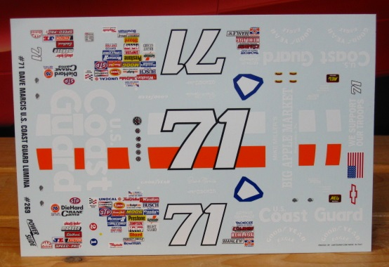 #71 Coast Guard Dave Marcis 1991 Daytona Powerslide #269