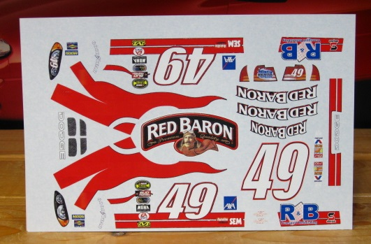#49 Red Baron Ken Schrader 2004 Dodge ALPS