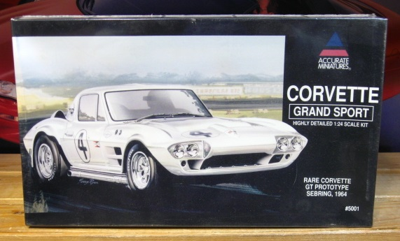 Accurate Miniatures 1964 Corvette Grand Sport GTP Kit Sealed