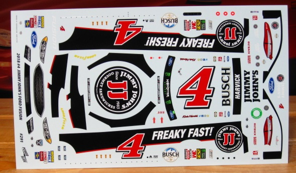 # 4 Jimmy Johns Kevin Harvick 2018 Ford Fusion Powerslide #291