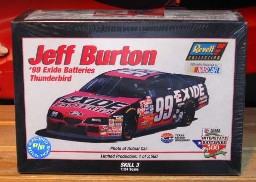 #99 Exide Jeff Burton Revell Racing Reflections Kit