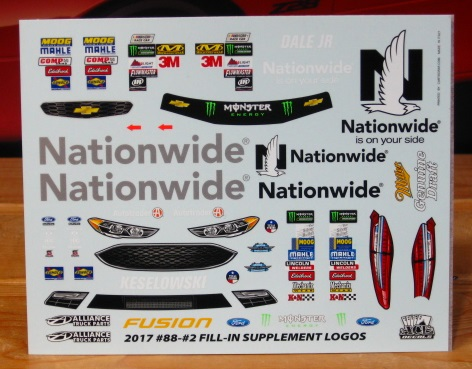 # 2 & 88 2016 Darlington Supplement Sheet ACE
