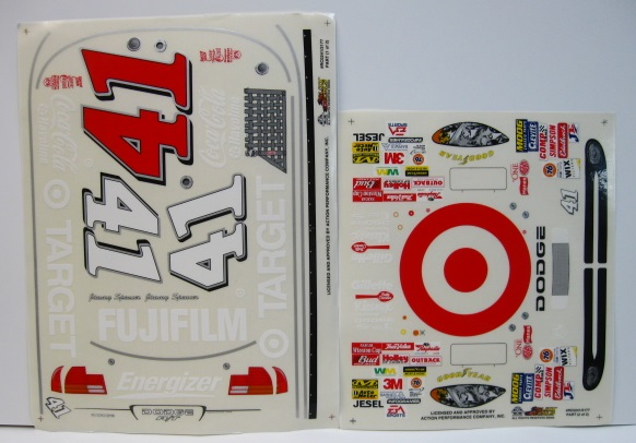 #41 Target Jimmy Spencer 2002 1/10 Scale Vinyl Slixx