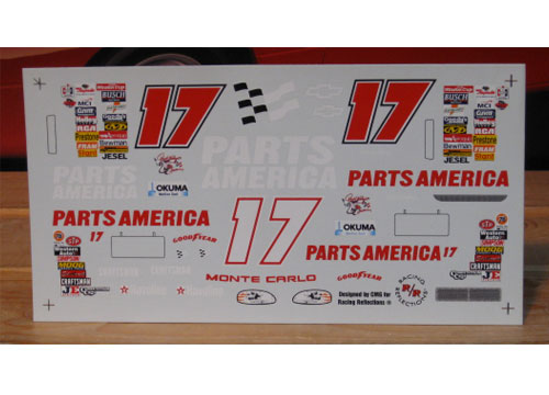 "#17 Parts America ""Bud Colors"" Revell"