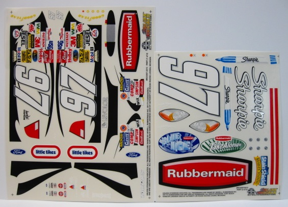 #97 Sharpie/Rubbermaid Kurt Busch 2003 1/10 Scale Vinyl Slixx