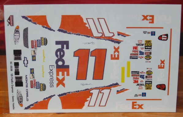 #11 FedEx Denny Hamlin Debut 2005 Monte Carlo Stoney's