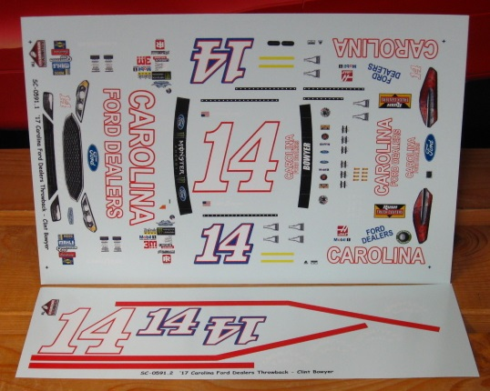 #14 Carolina Ford Clint Bowyer 2017 Darlington Stoney\'s