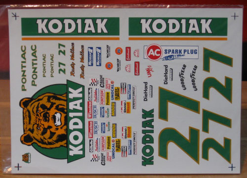 #27 Kodiak Rusty Wallace 1989 1/18 Scale