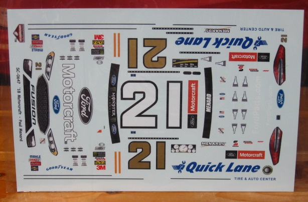 #21 Quick Lane Paul Menard 2018 Fusion Stoney\'s