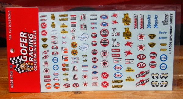 Gofer Decals #11006 Sponsor Sheet
