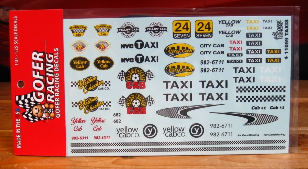 Gofer Decals #11059 Taxis