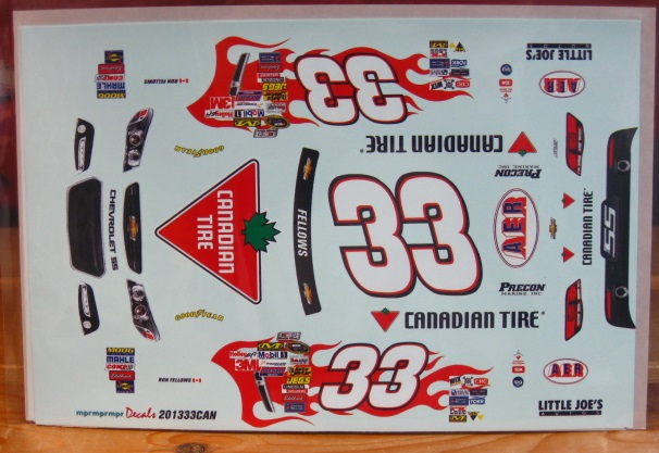 #33 Canadian Tire Ron Fellows 2013 Chevy SS MPR