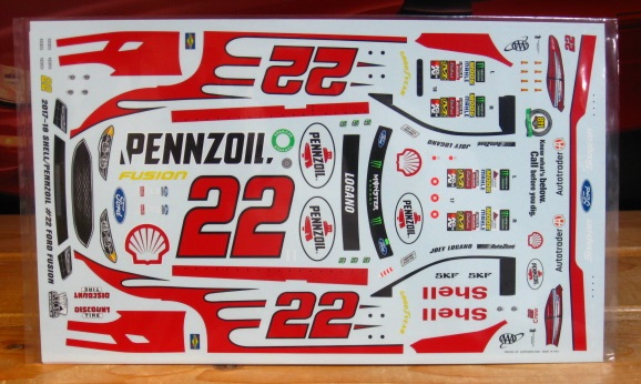 #22 Shell Pennzoil Joey Logano 2018 ACE
