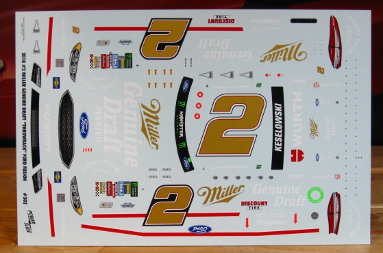 # 2 MGD Brad Keselowski 2018 Darlington Winner Powerslide #302