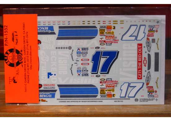 #17 Visine Blue Matt Kenseth 2000 Slixx