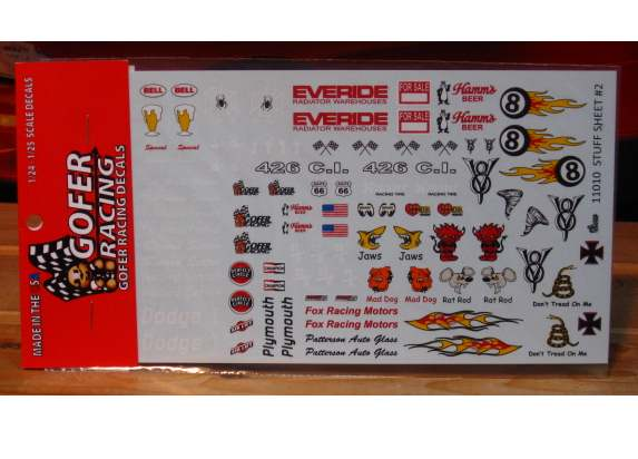 Gofer Decals #11010 Stuff Sheet #2