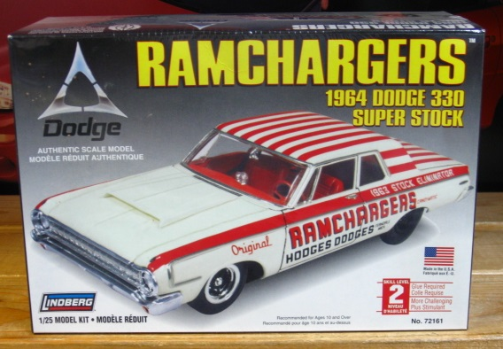 Lindberg Ramchargers 1964 Dodge 330 Super Stock Kit Sealed