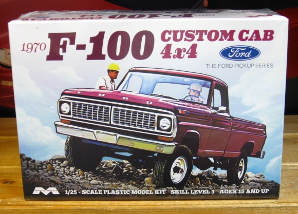 Moebius Models 1970 Ford F-100 Custom Cab 4X4 Kit Sealed
