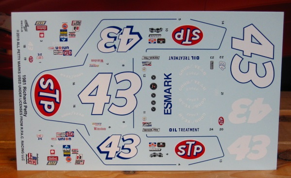 #43 STP Richard Petty 1981 Buick Powerslide