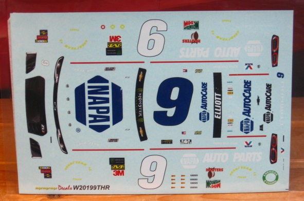 # 9 Napa Darlington Throwback 2019 Chase Elliott MPR