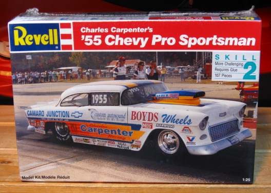 57 Chevy Funny Car nhra drag racing plastic model car kit - Revell ...